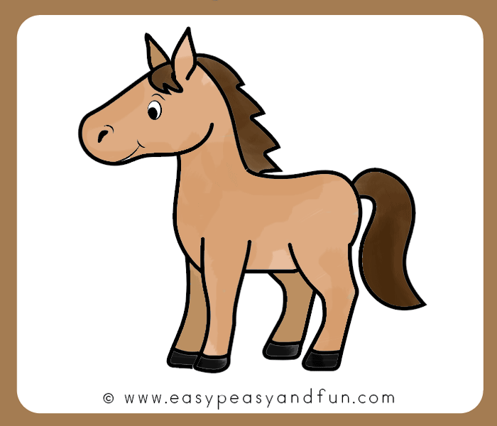 Horse clipart easy. How to draw a