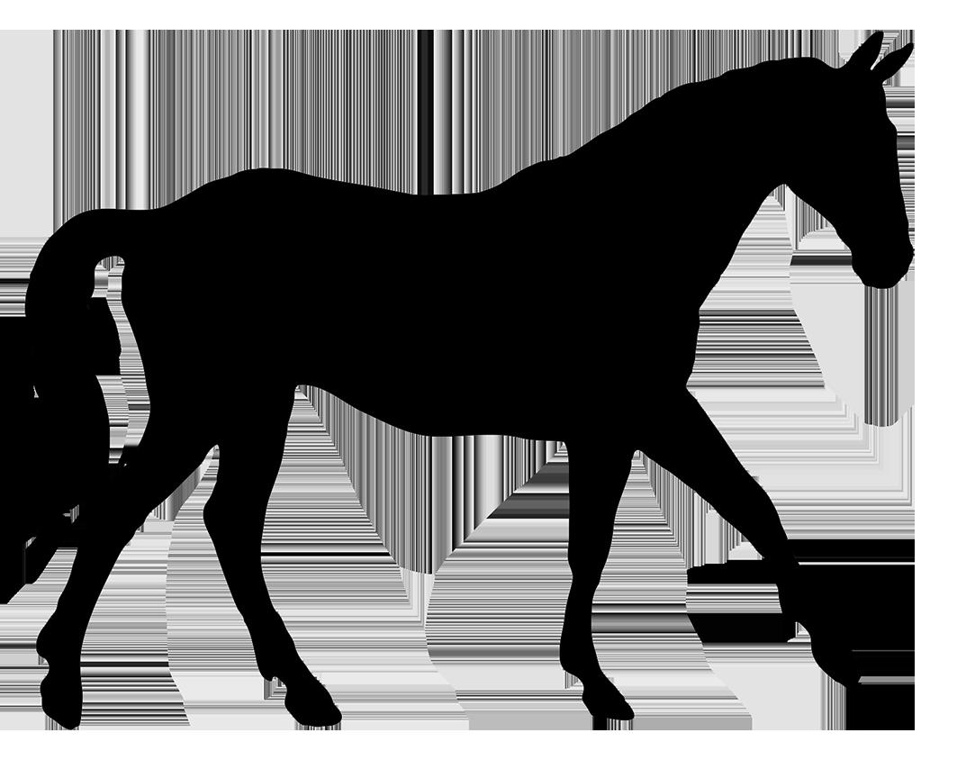 Silhouette of cakes horses. Horse clipart elegant