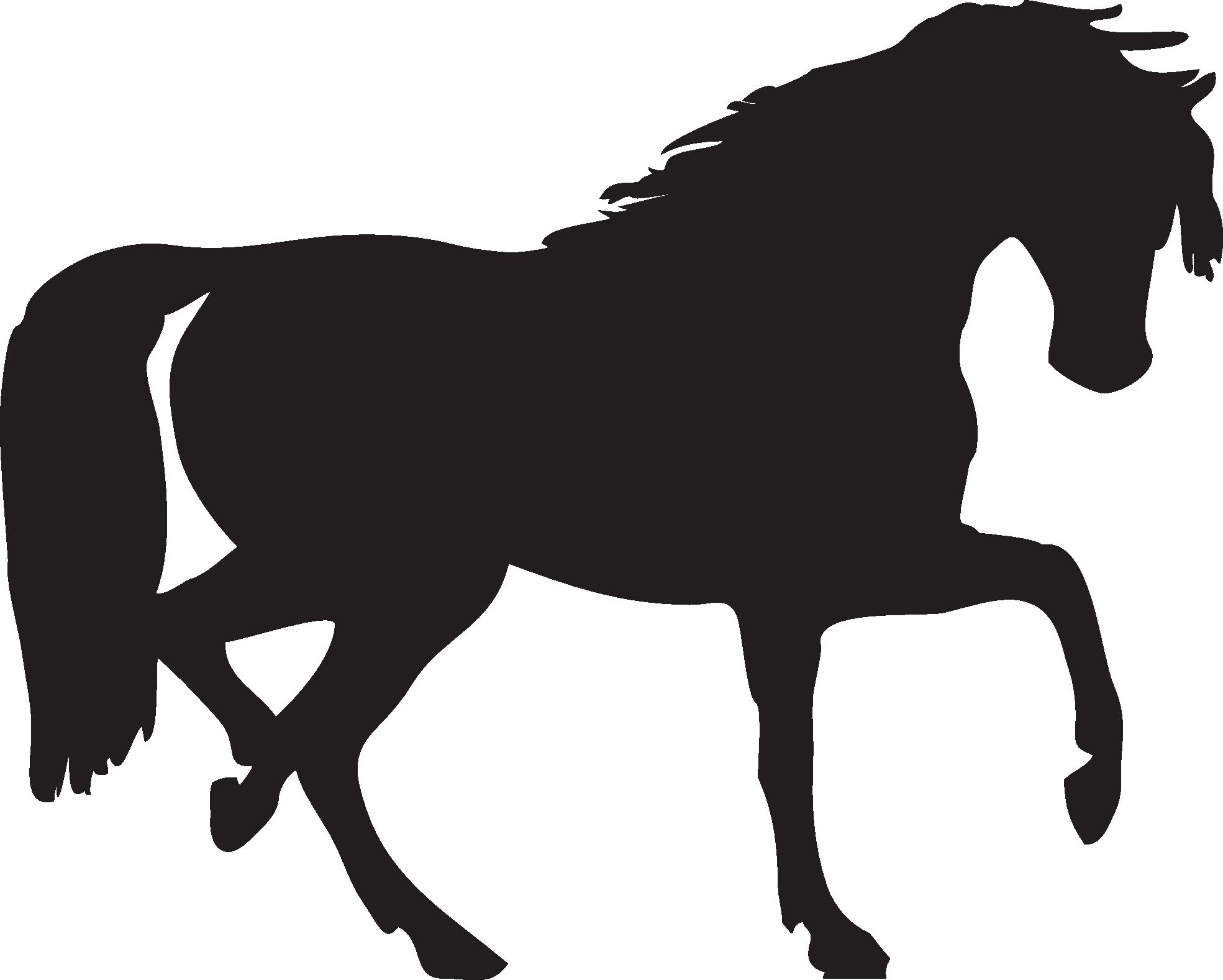 Horse clipart equine. Black siluete png image