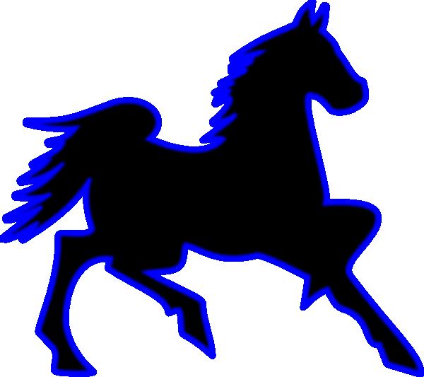 Horse clip art at. Horses clipart blue