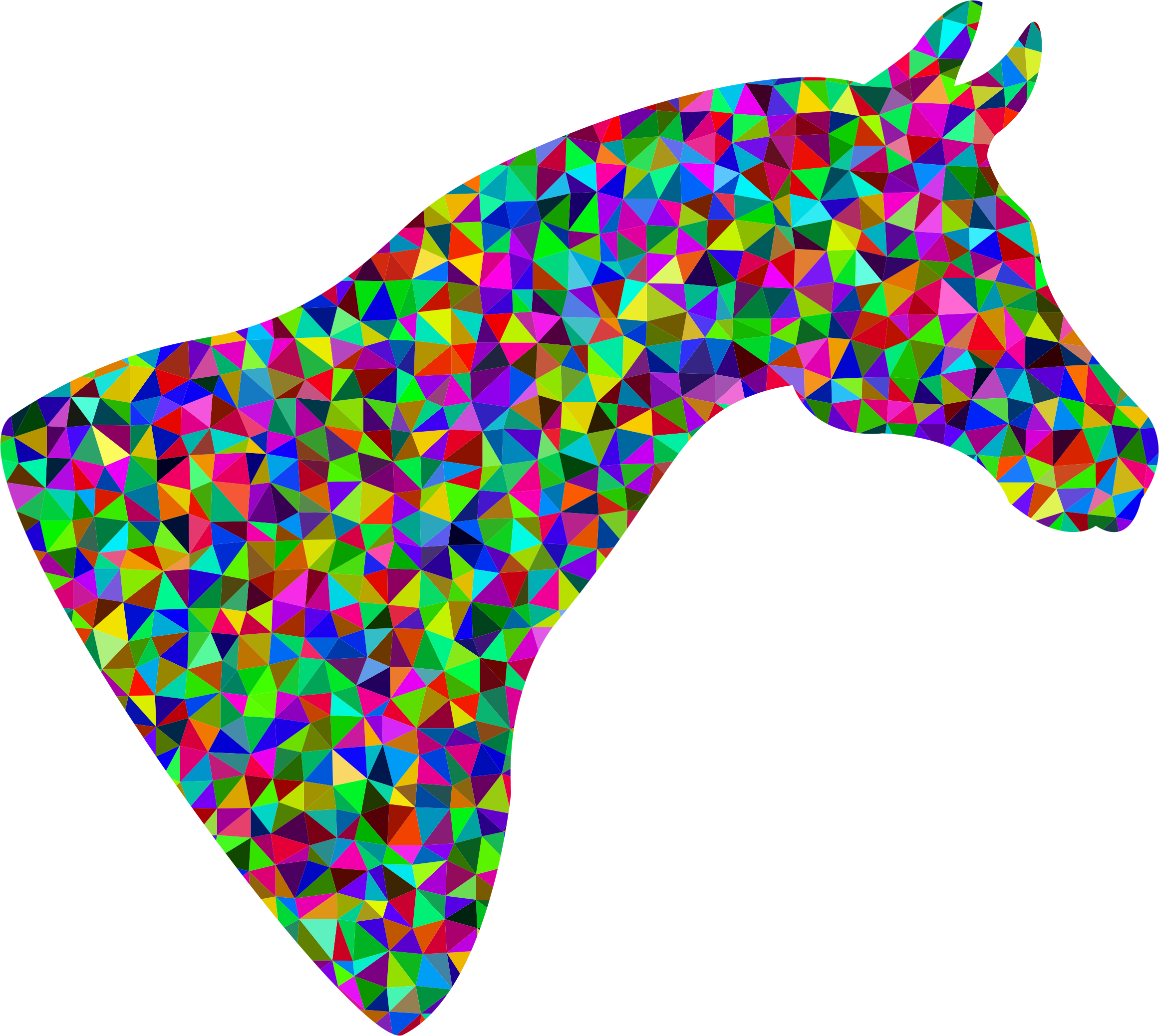 Horse clipart horse head. Prismatic low poly big