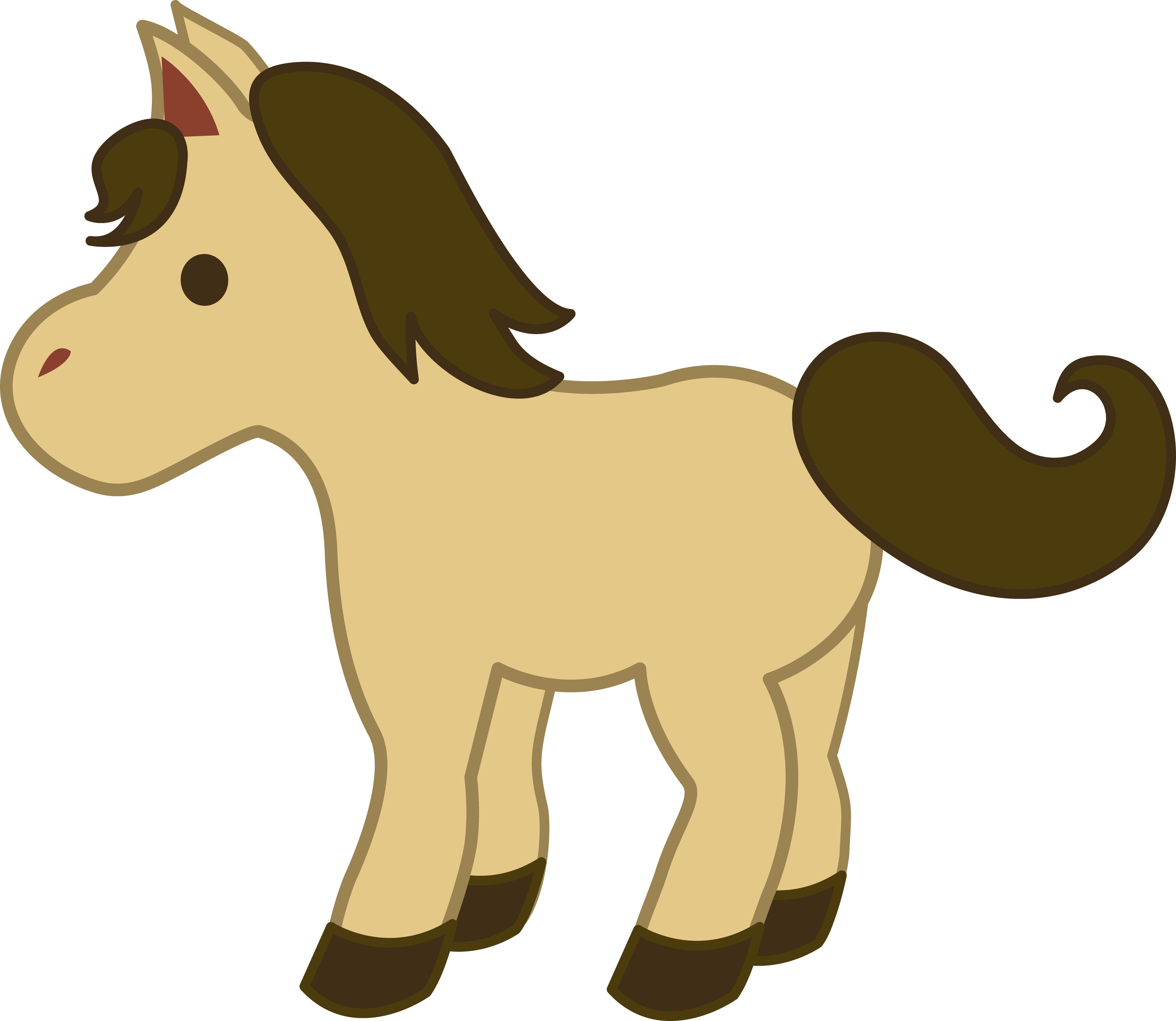 Simple gallery by stephen. Horse clipart house