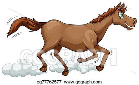 Vector stock a running. Horse clipart illustration