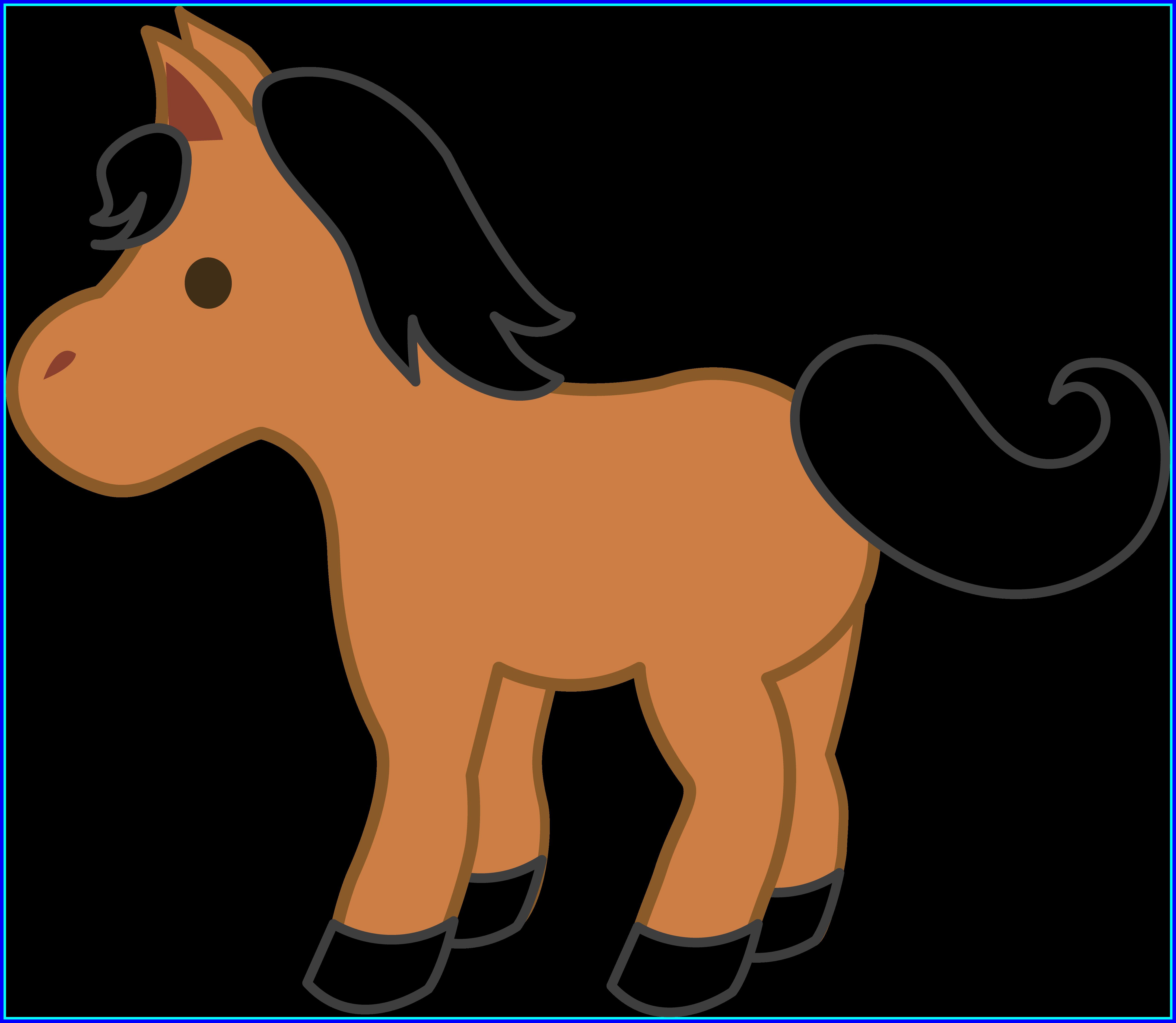 Cute baby at getdrawings. Horses clipart kid