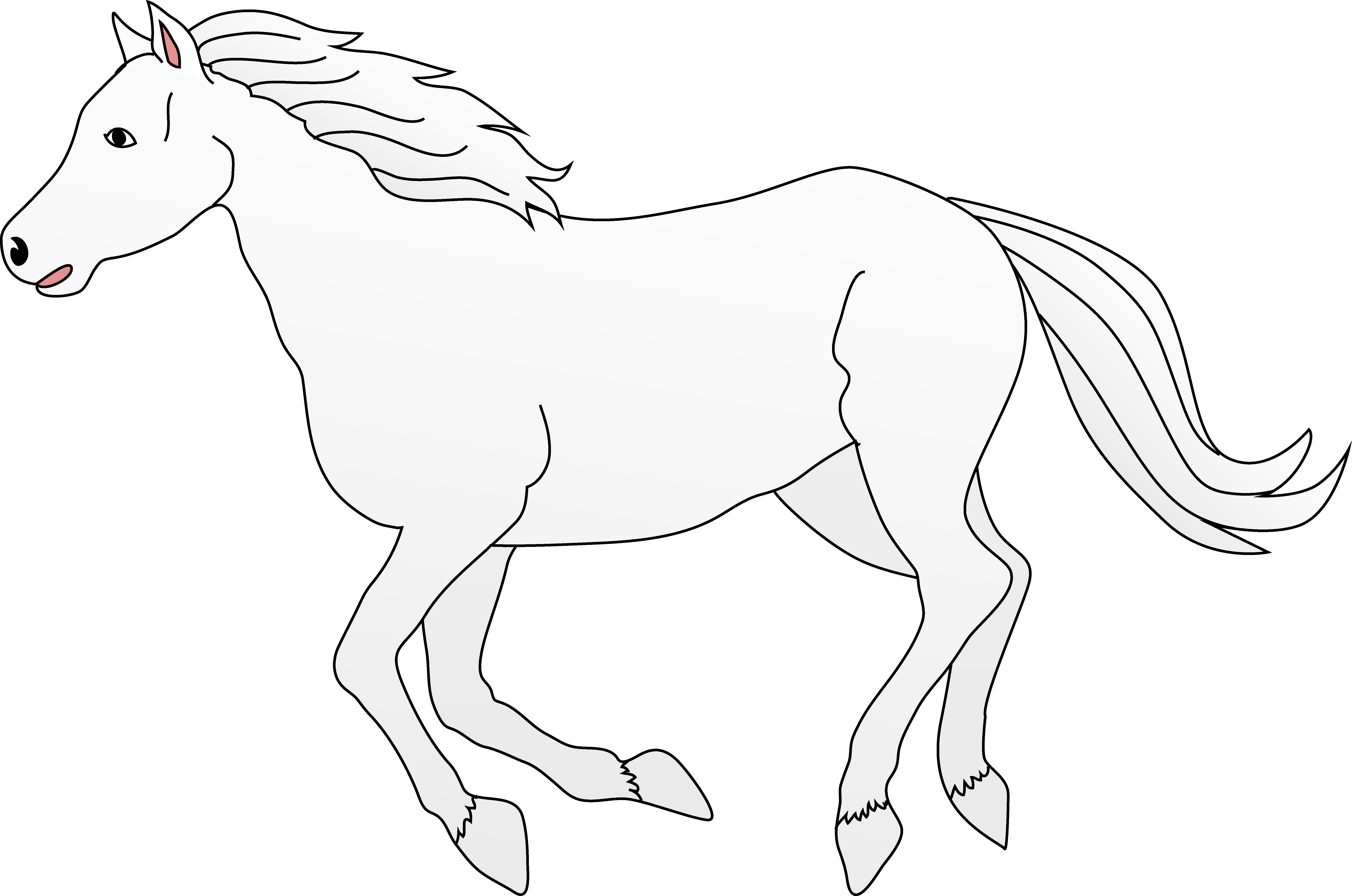 Horses clipart food. White horse galloping clip