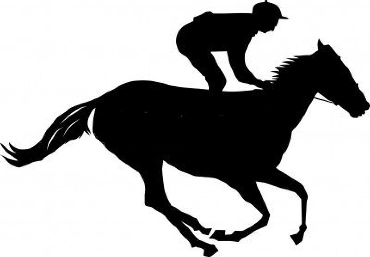 Free silhouette clip art. Horse clipart race horse