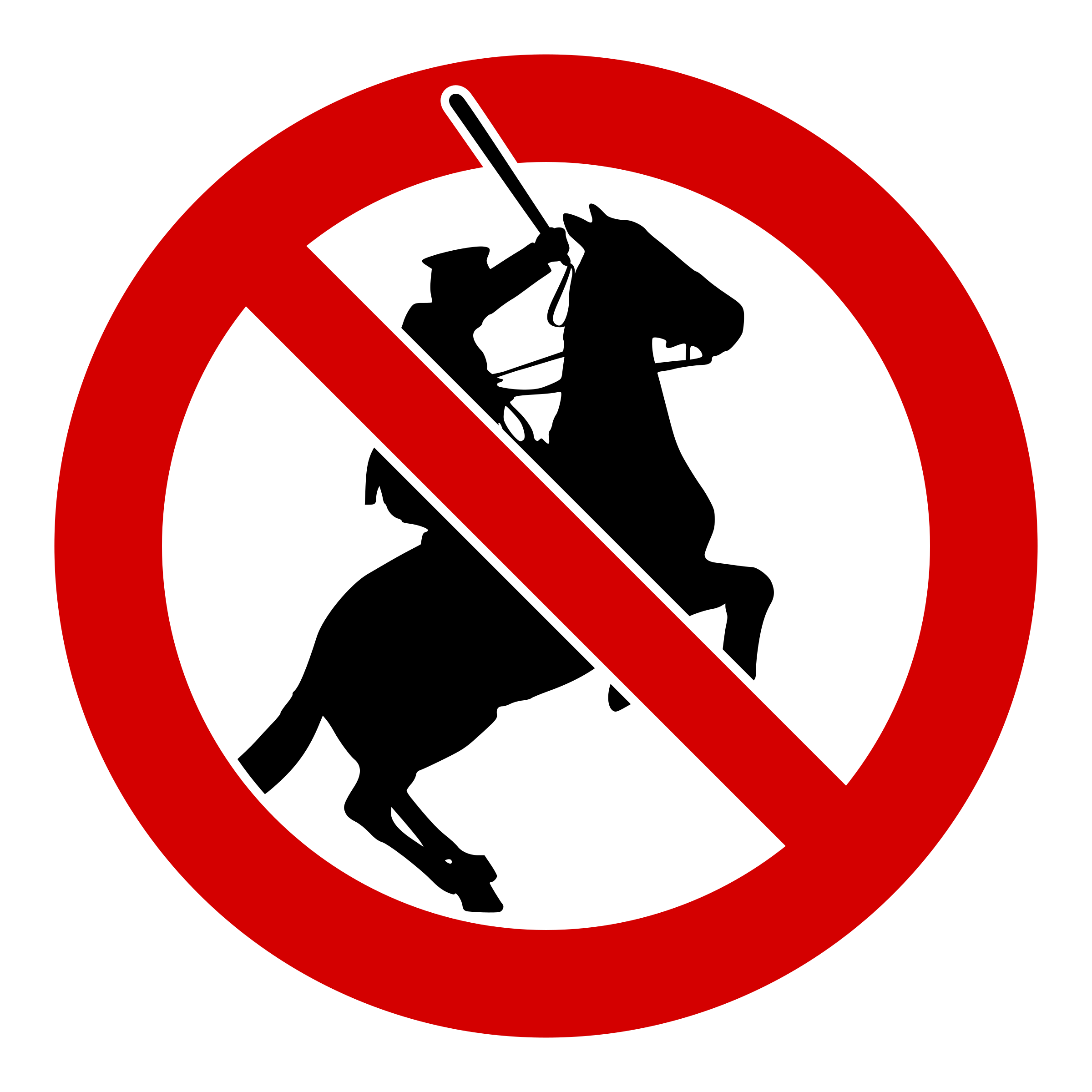 No on horses big. Policeman clipart police baton