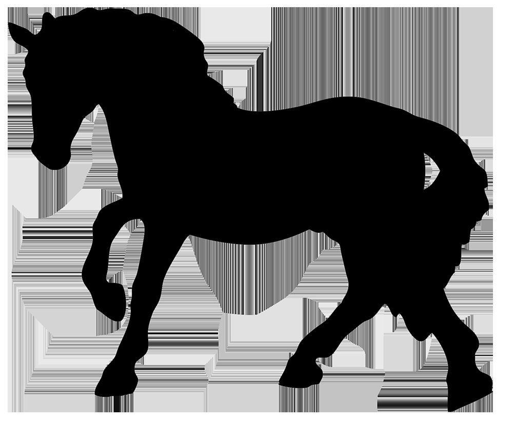 Horses clipart front. Horse silhouette black