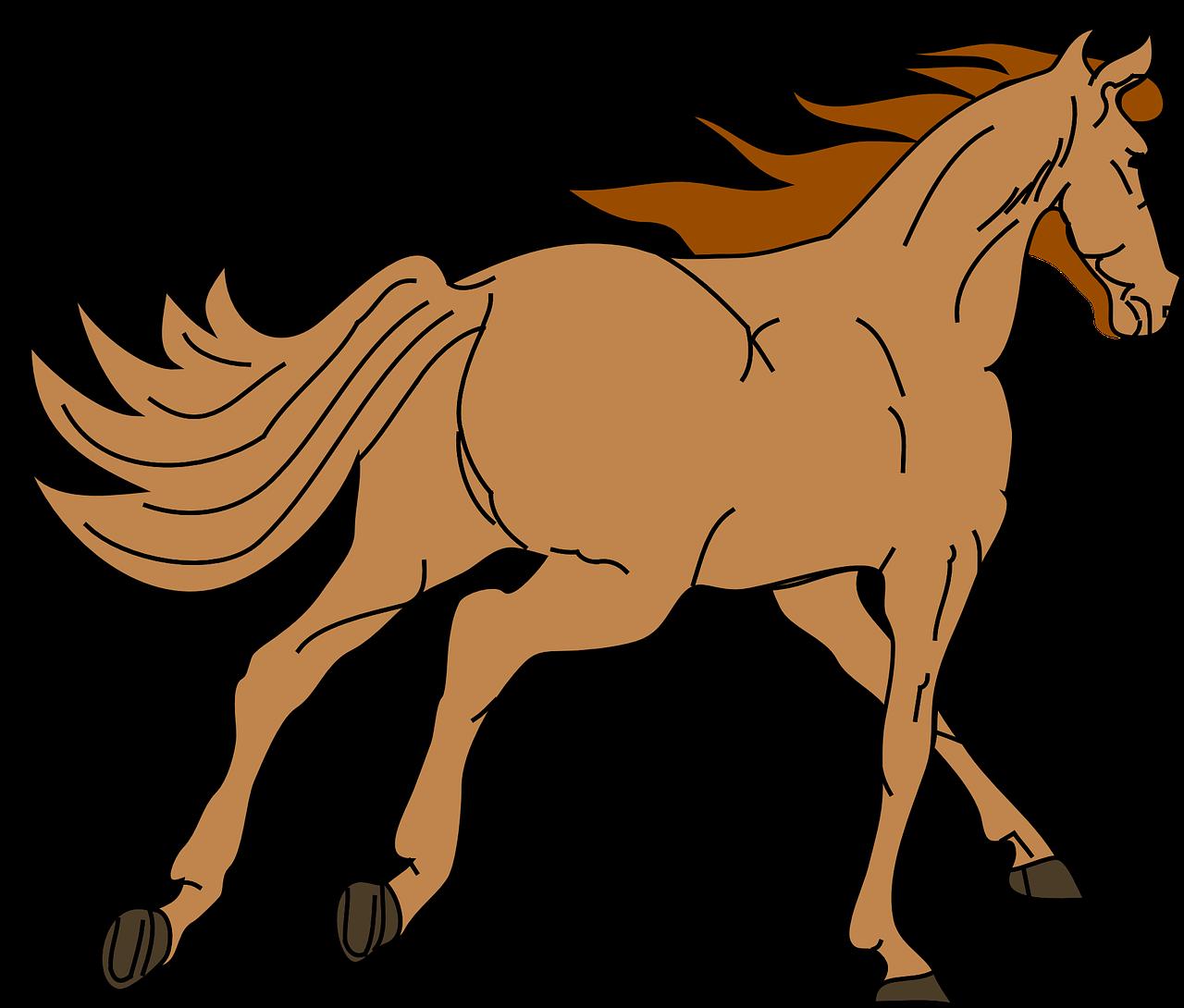 Pin by monika kubov. Horse clipart template