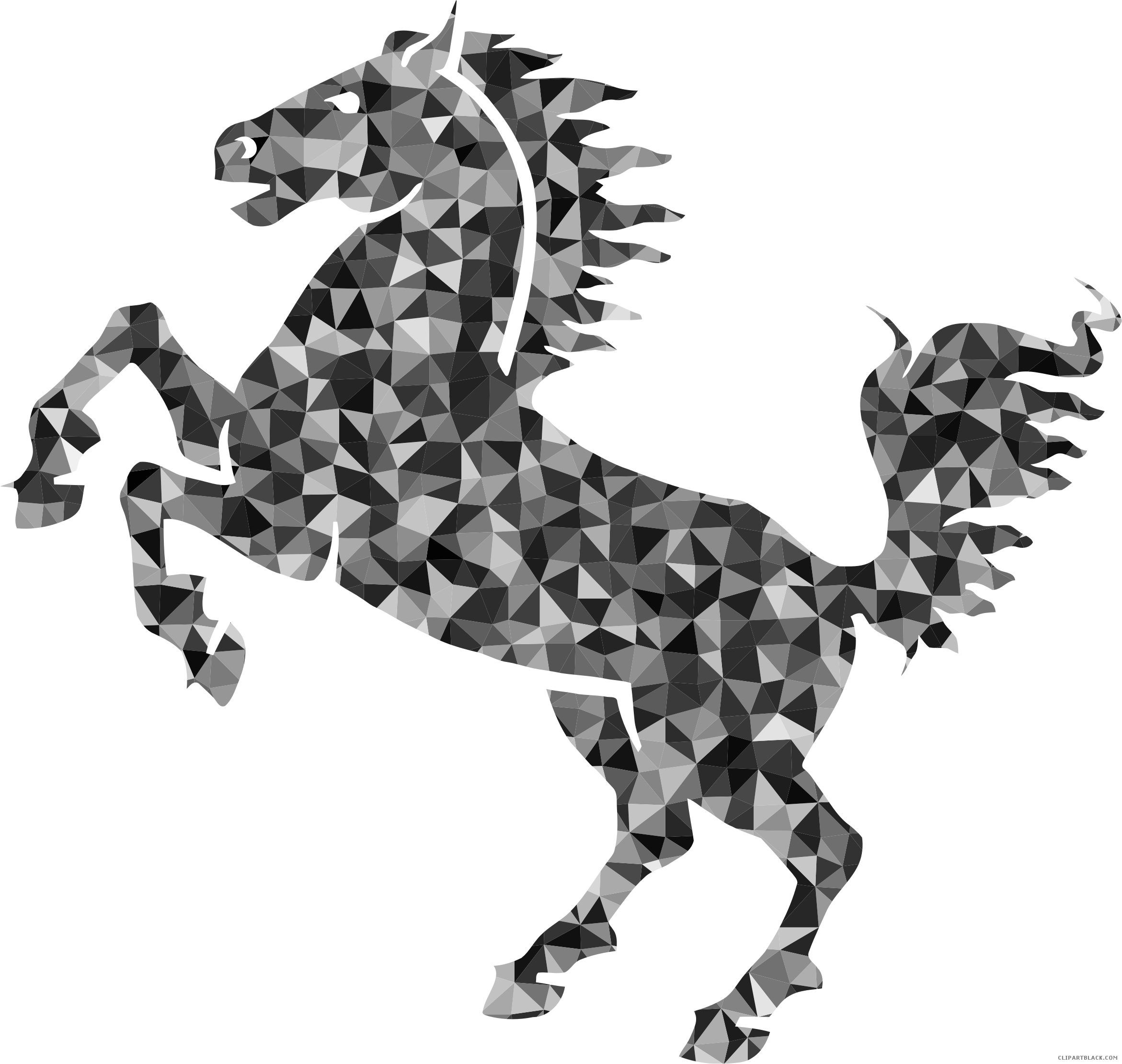 Horse clipart transportation. Prismatic clipartblack com animal