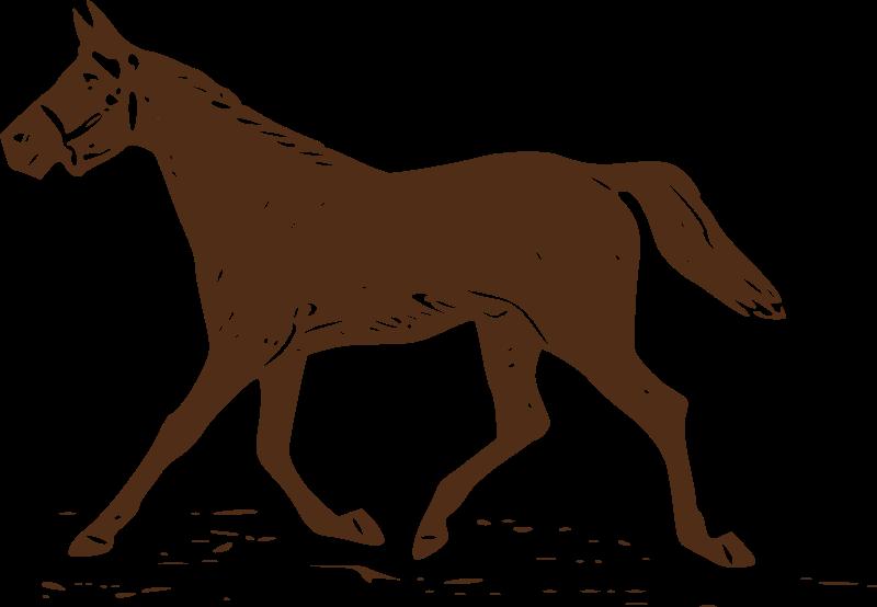 horses clipart trot