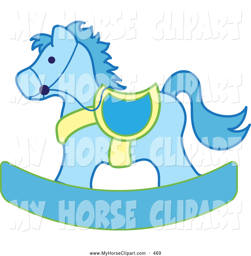 Blue horse cliparts free. Horses clipart baby shower