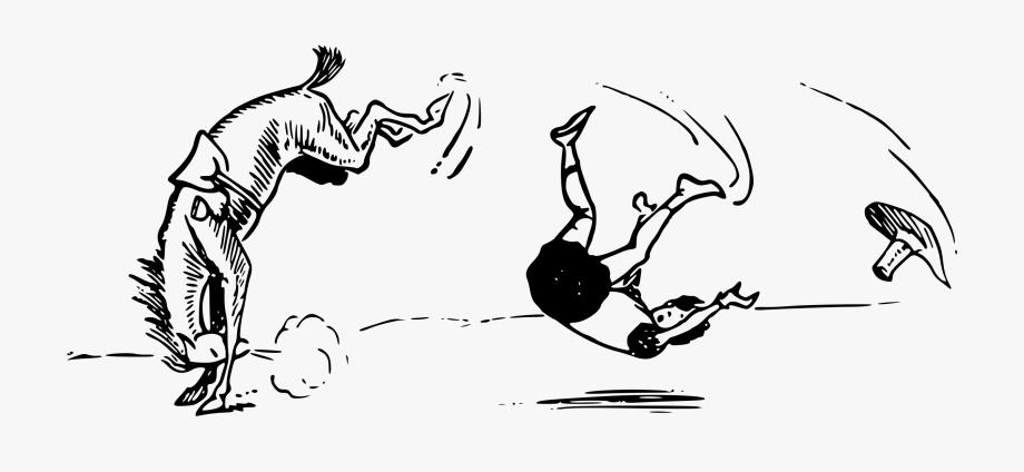 Horses clipart boy. Horse falling kicking person
