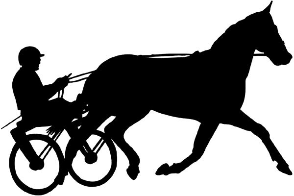 Horses clipart cross country. Harness racing standardbred horse