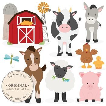 Horses clipart domestic animal. Premium farm animals clip