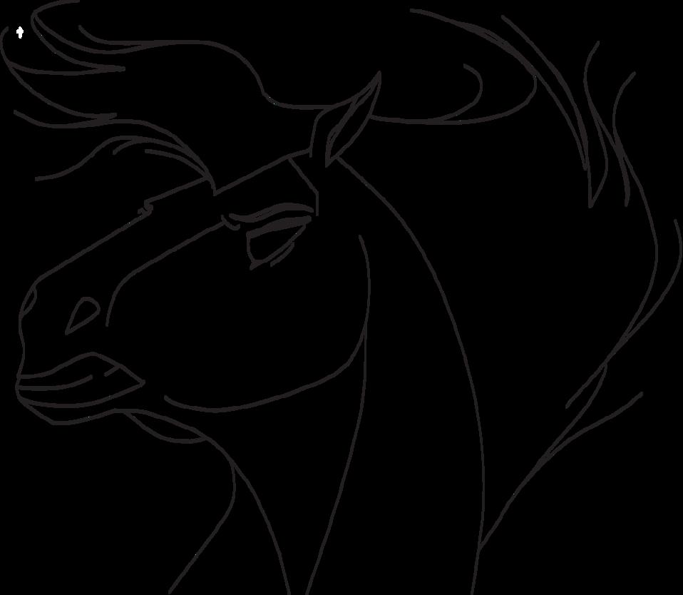 Angry horse drawing at. Horses clipart ear