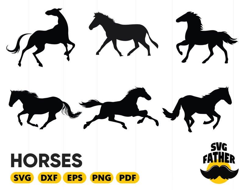 Horses clipart file. Svg horse cut dxf