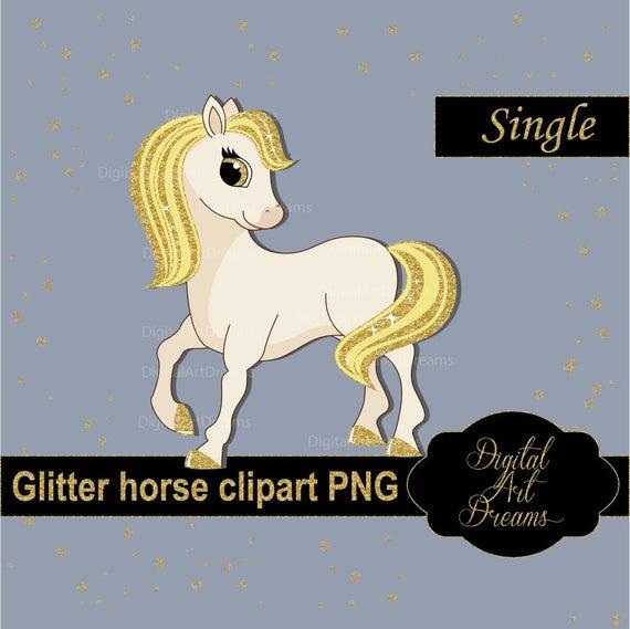 Horses clipart glitter. Horse gold pony graphics