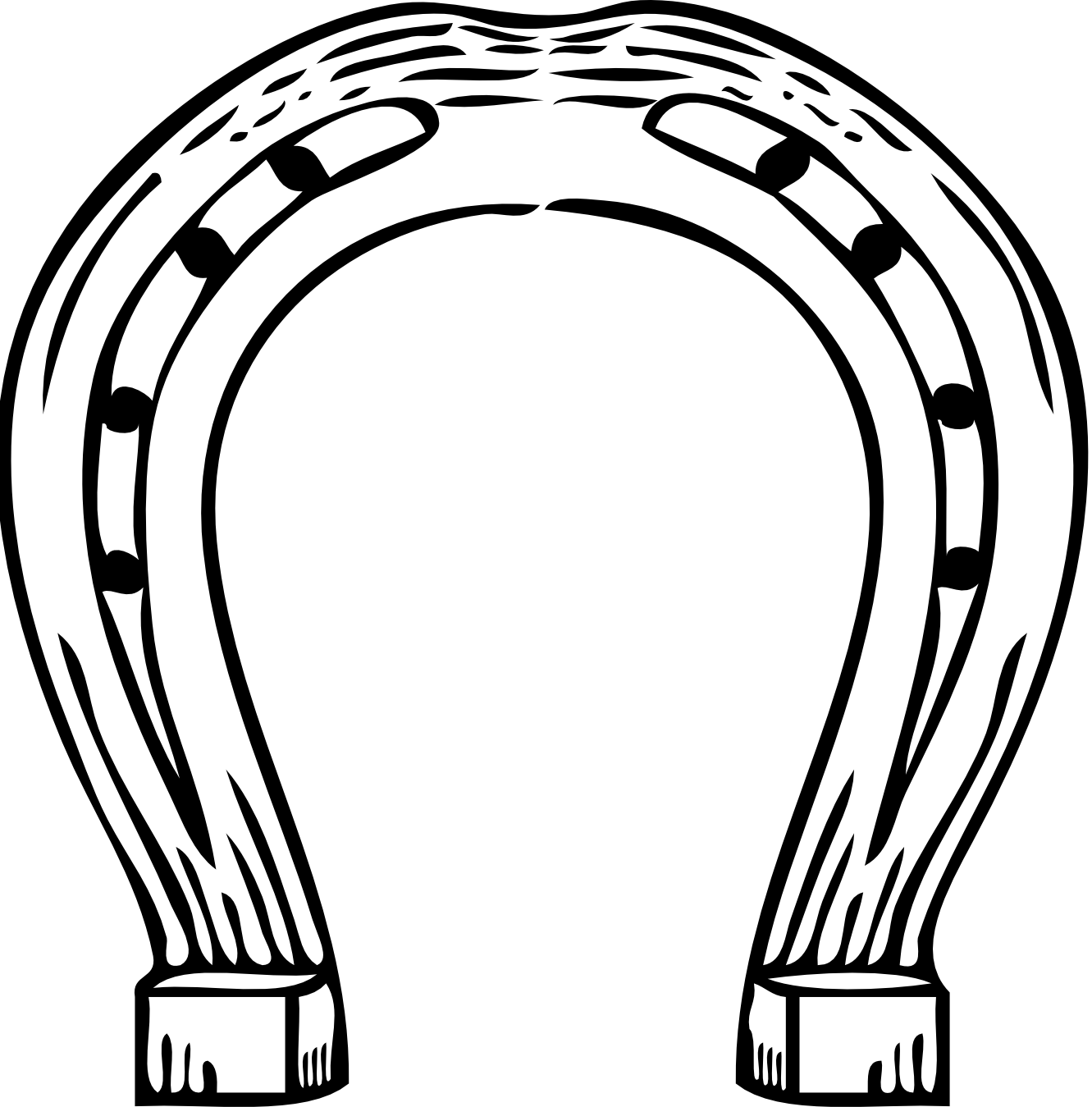 Horse shoe image best. Horseshoe clipart footprint