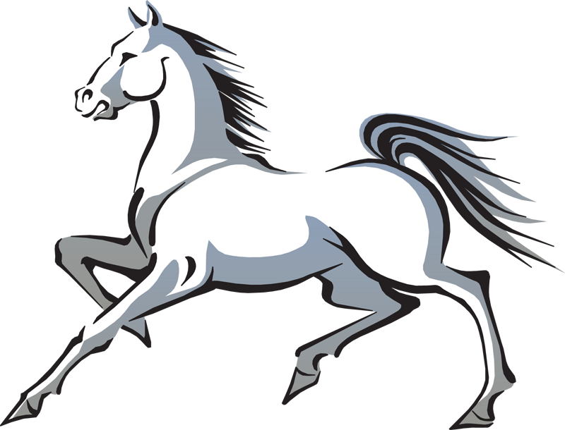 Horses clipart playground. Clip art of horse