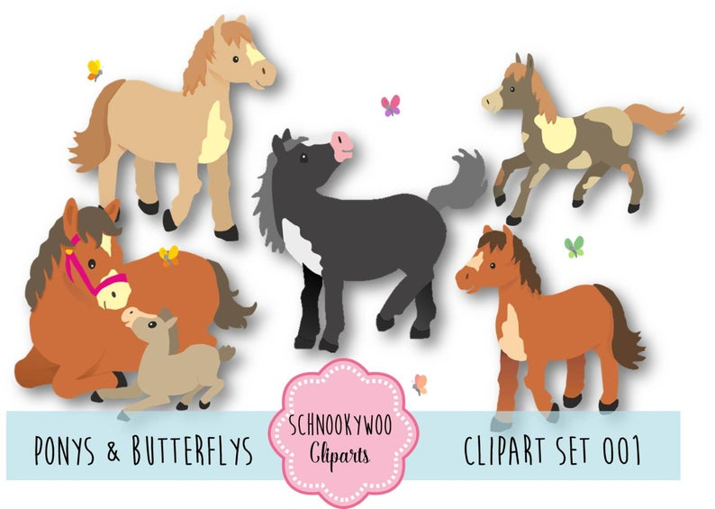 Horses clipart pony. Horse mare foal ponies