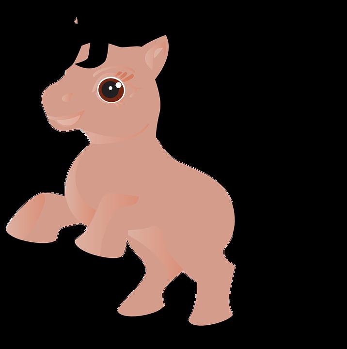 Horses clipart simple. Cartoon baby horse shop