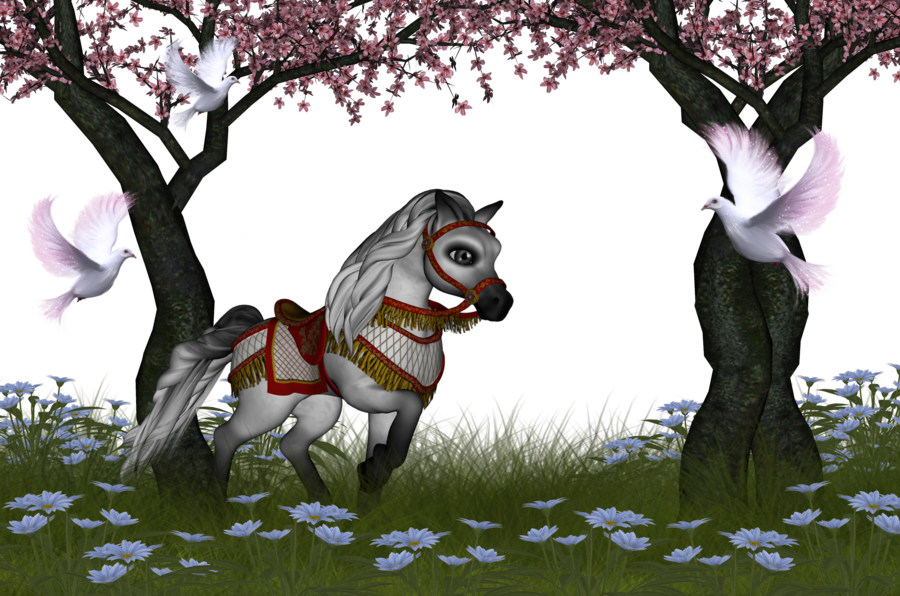 Horses clipart spring. Png toon horse background