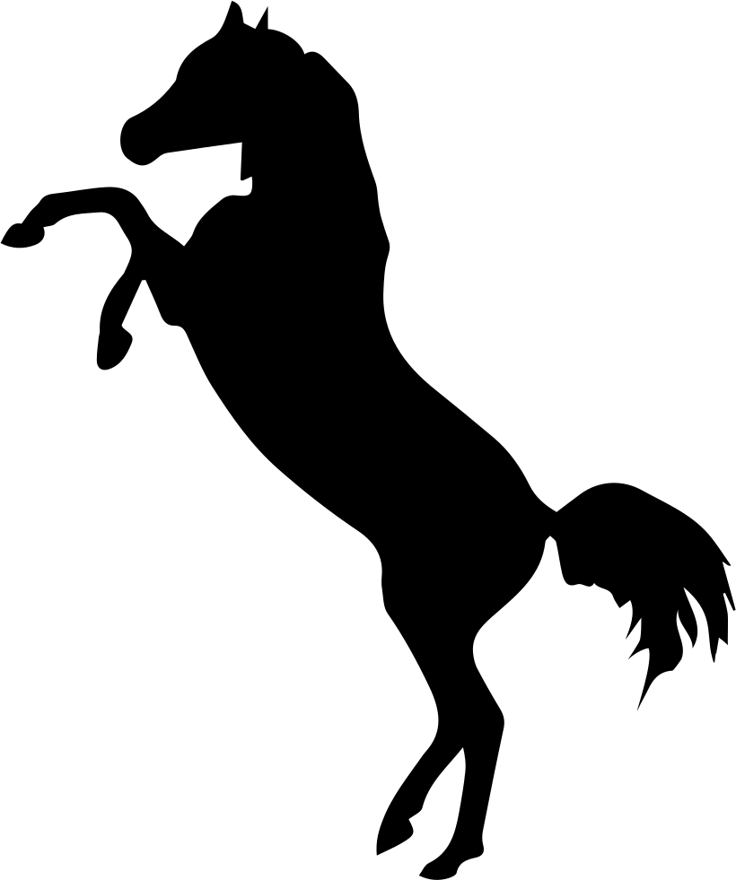 Horses clipart standing. Horse silhouette at getdrawings
