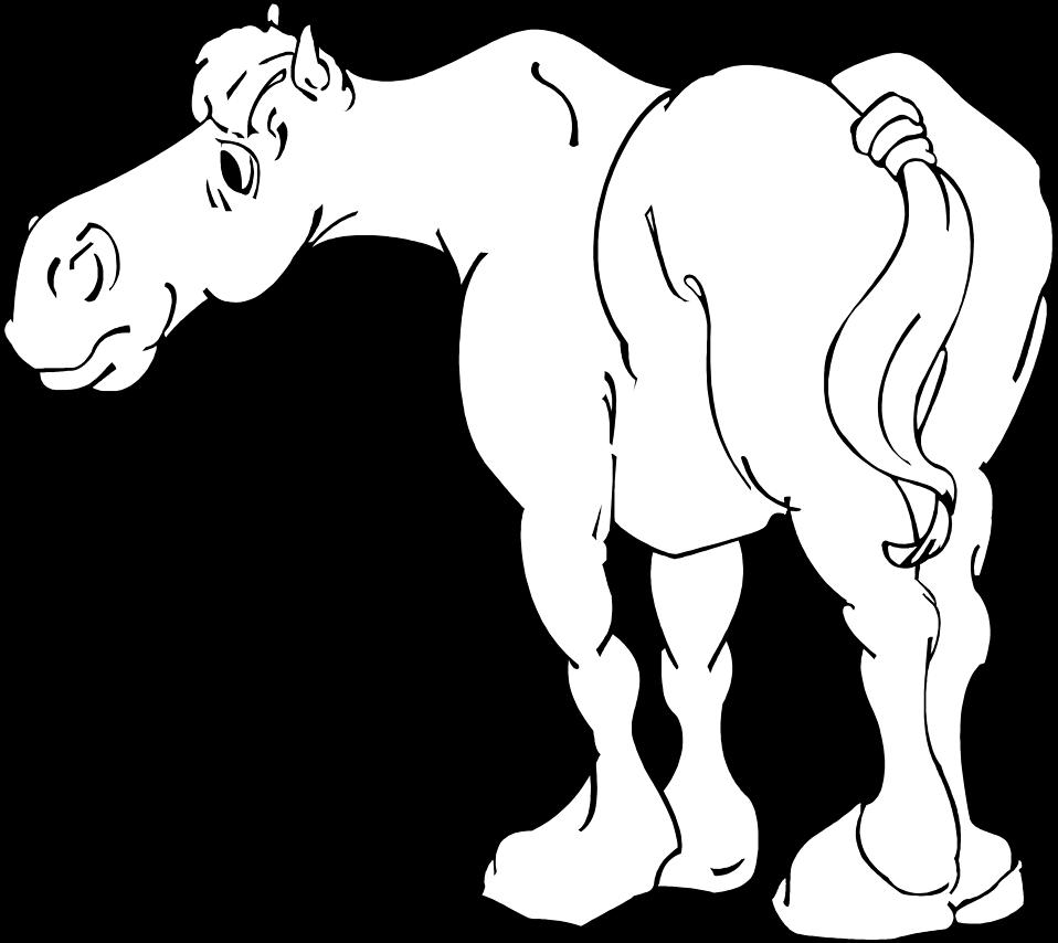 Horses clipart standing. Free stock photo illustration