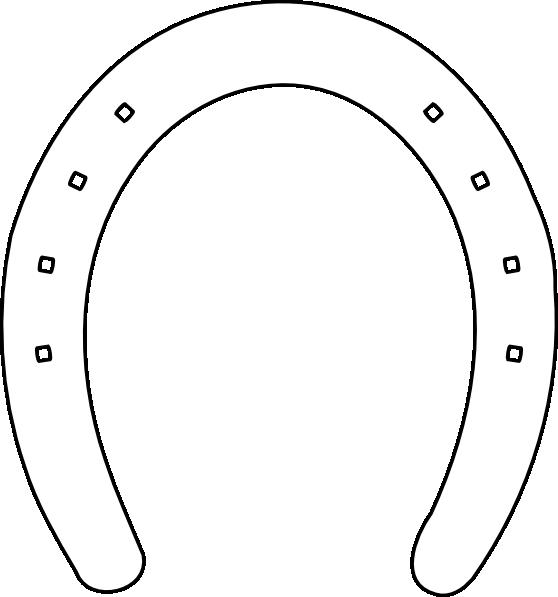 Horse shoe outline clip. Horseshoe clipart two