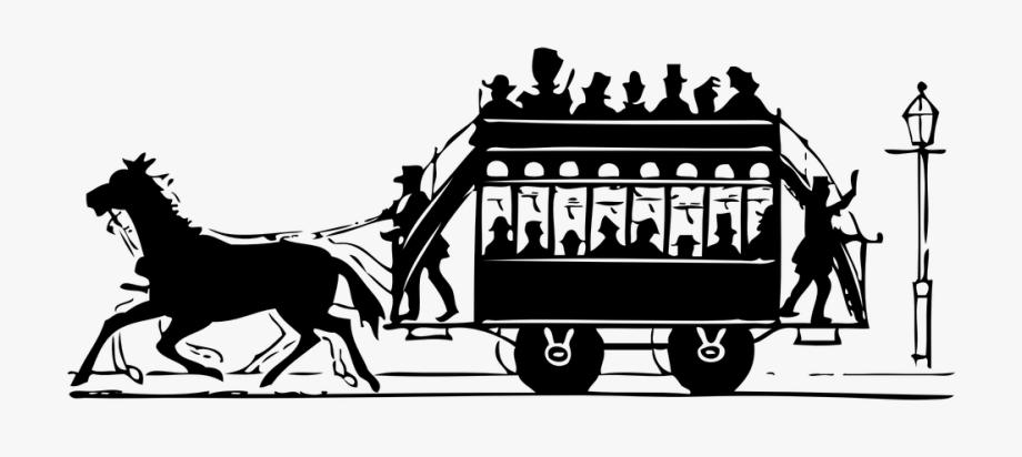 Transporte antiguo a caballo. Horses clipart transportation