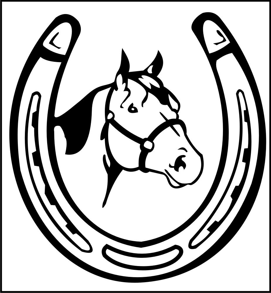 Horseshoe clipart. Trends for double saddle