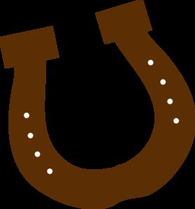 Horseshoe clipart. Brown