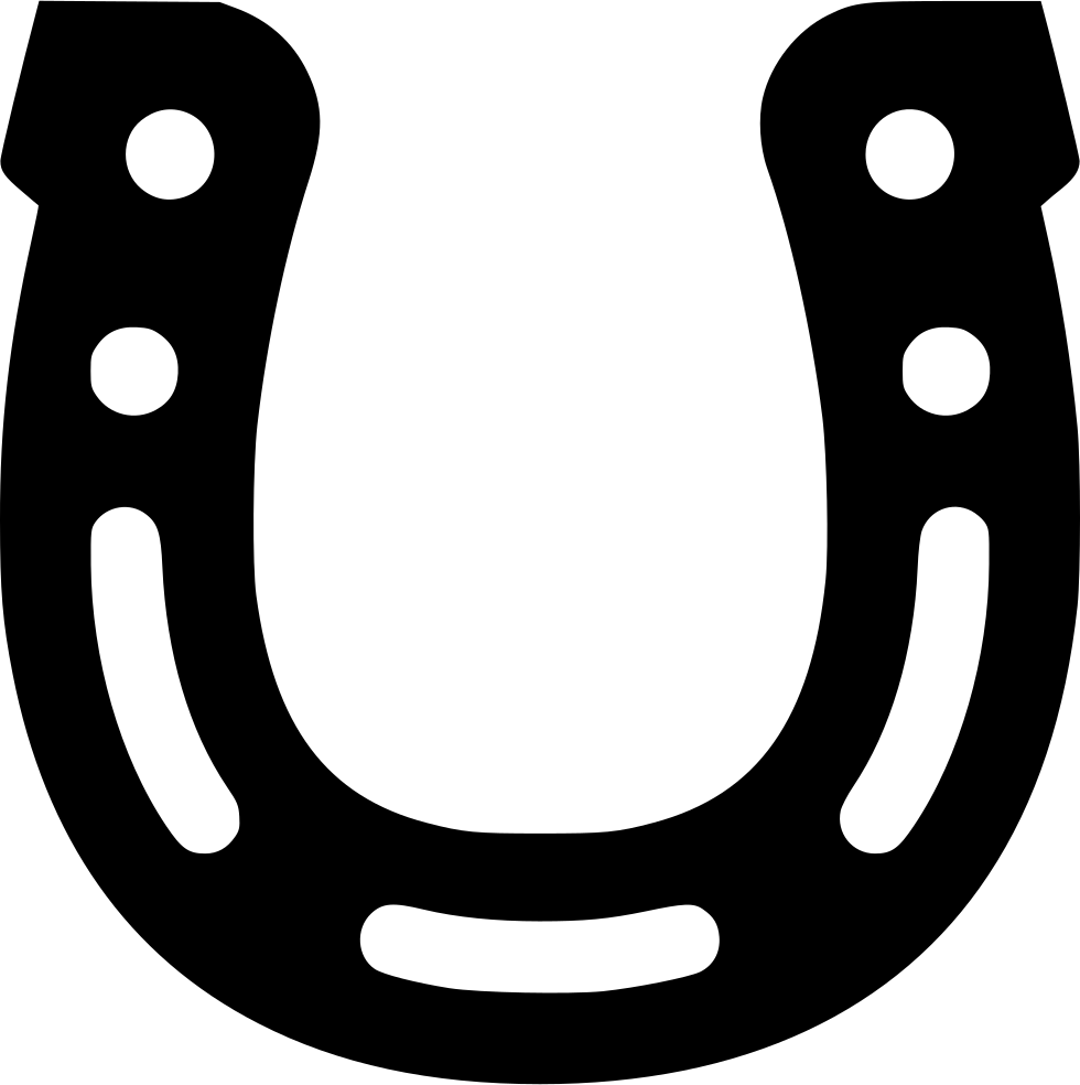 Horseshoe clipart black and white. Png image purepng free