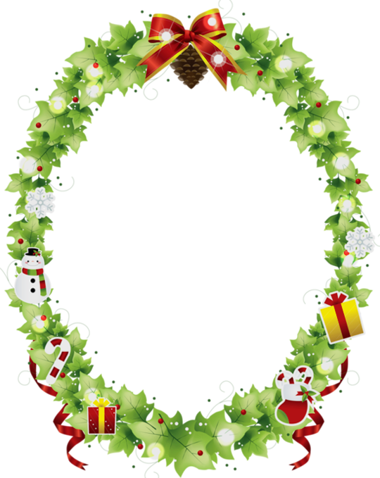 Amazing border best digital. Horseshoe clipart christmas