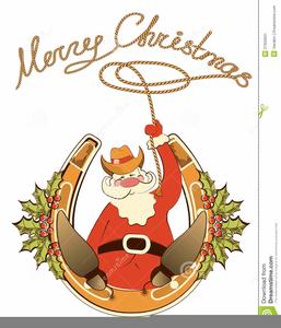 Horseshoe clipart christmas. Cowboy free images at