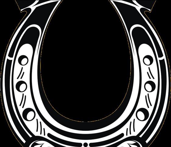 Transparent background . Horseshoe clipart drawn