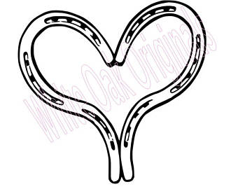 Etsy . Horseshoe clipart heart