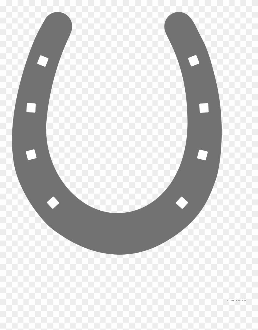 Horseshoe clipart horse shoe. Black and white png