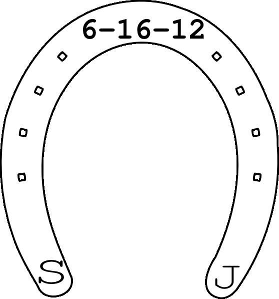 Horseshoe clipart horseshoe magnet. Date clip art at