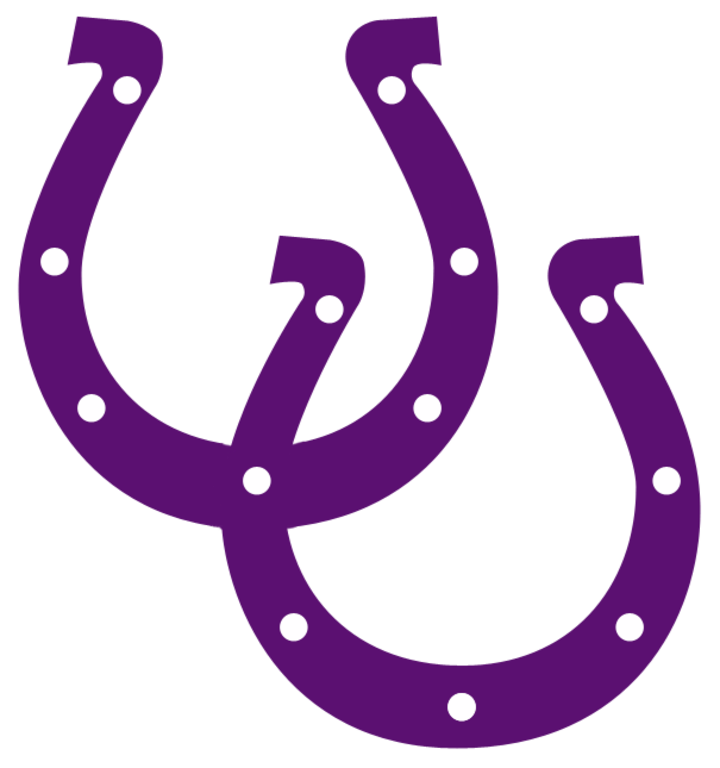 Horseshoe clipart purple. The martins ferry riders