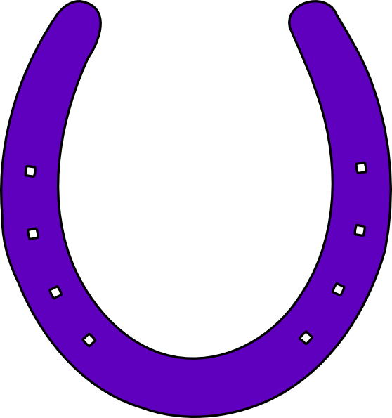 Horse shoe purple clip. Horseshoe clipart silver horseshoe