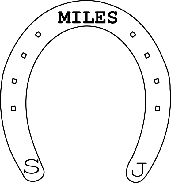 Miles clip art at. Horseshoe clipart small