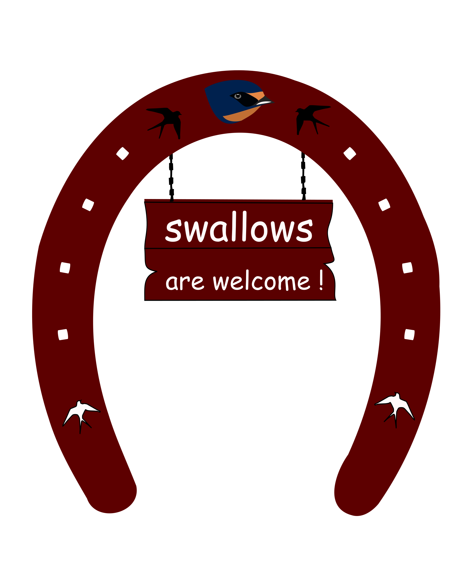 Swallow welcome icons png. Horseshoe clipart svg