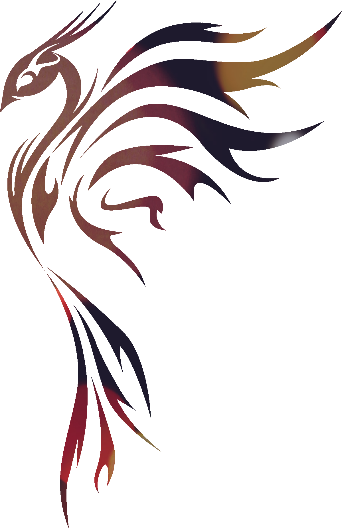 Bird gradient colours i. Horseshoe clipart tribal