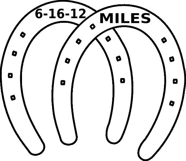 Miles date clip art. Horseshoe clipart two