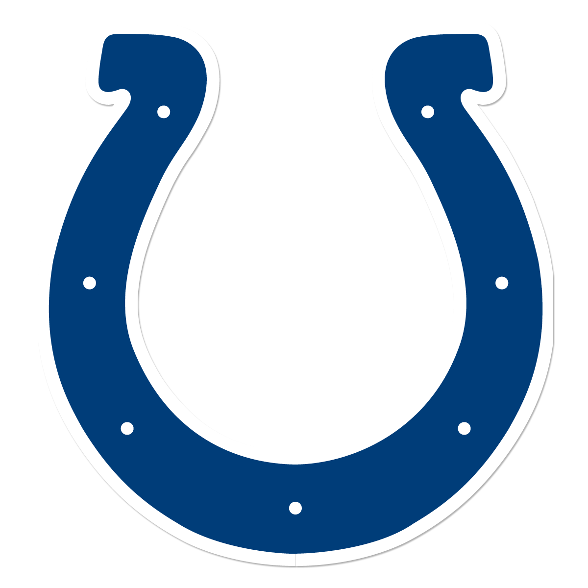 Cows group colts logo. Horseshoe clipart two
