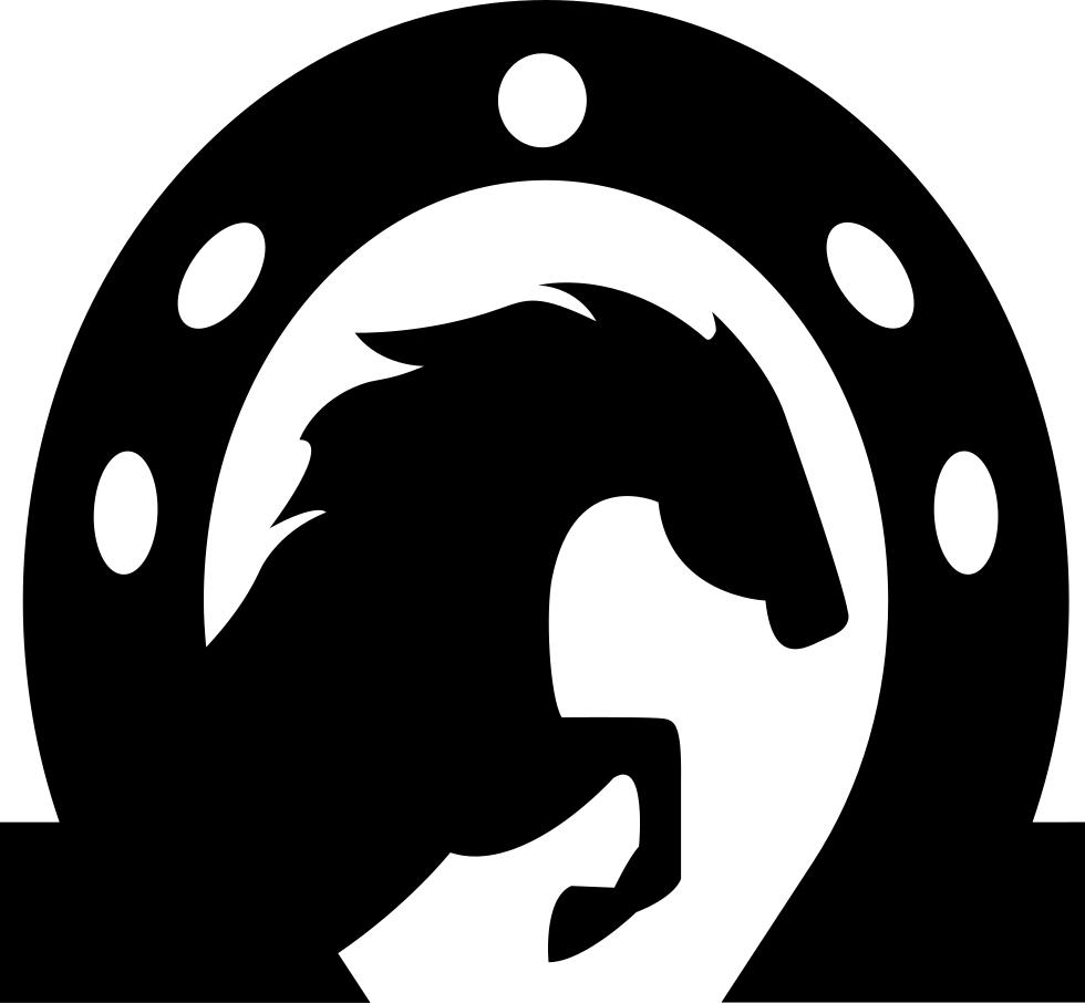 Horse head inside a. Horseshoe vector png