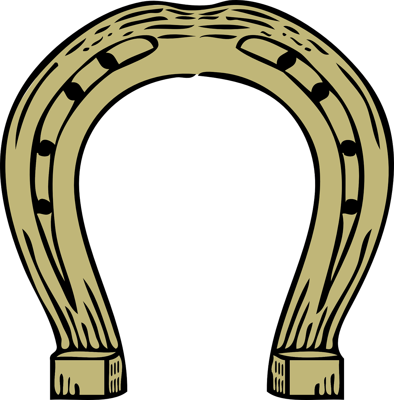 Horseshoe vector png. Metal horse shoe symbol