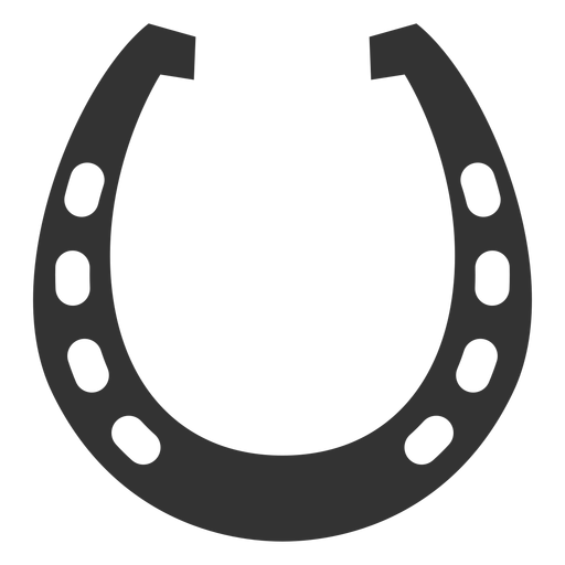 Horseshoe vector png. Racing plate silhouette transparent